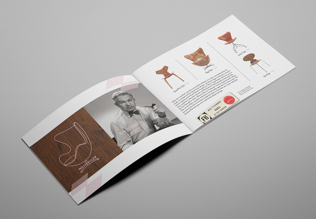 Roberto Rosenman Graphic Design Chair Design Brochure